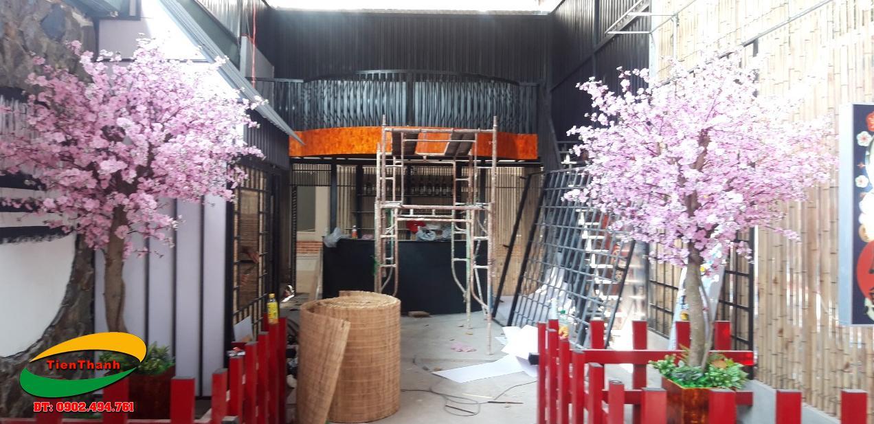 Trang trí nội thất bằng tấm mê bồ tre, phên tre