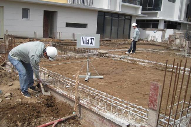 Thay một phần nền nhà bằng cách bổ sung gối cát xây móng nhà cấp 4 trên nền đất yếu