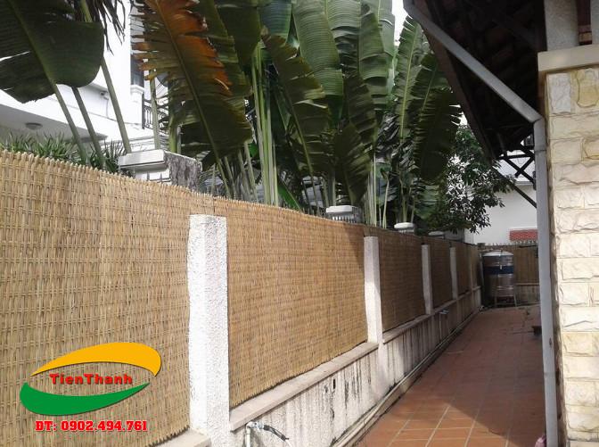 Tấm mê bồ tre, phên tre làm hàng rào có tính thẩm mỹ cao